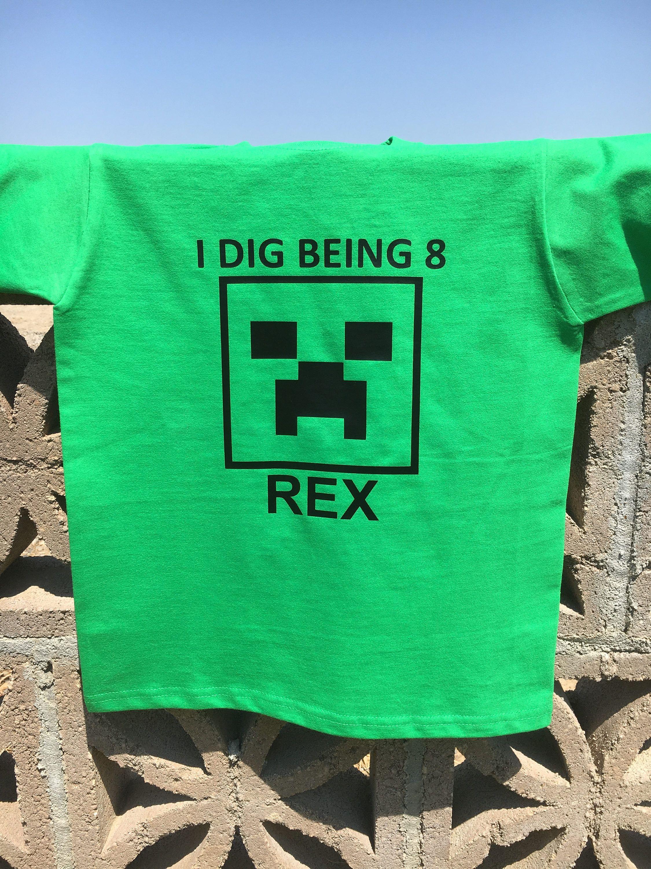 Minecraft birthday shirt, Creeper shirt, custom creeper