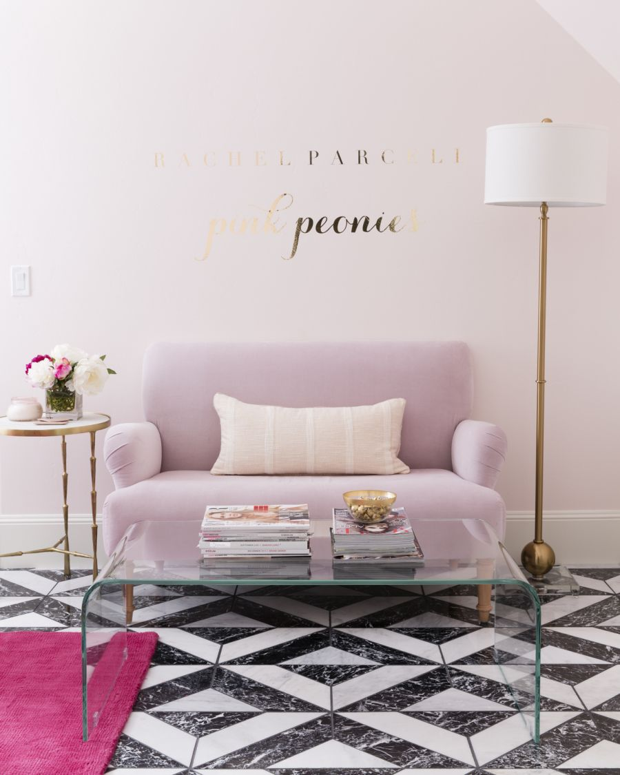 colorful feminine office furniture. From Blush Colored Walls To Patterned Marble Floors And A Bright Pop Of Fuchsia, This Girly Office Has Some Serious Edge. Colorful Feminine Furniture I