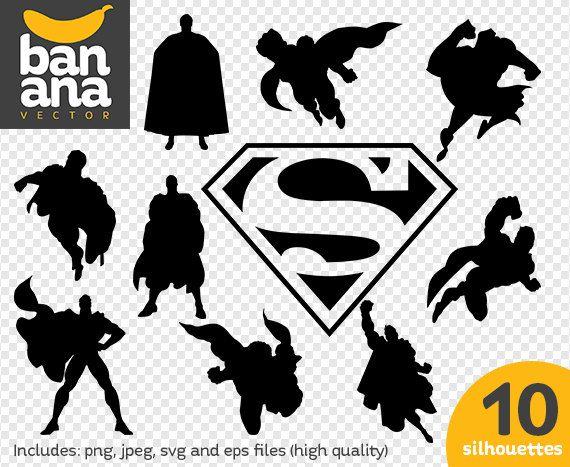 Sale Superman Png Jpg Svg Eps Files High Resolution Bv Fa 0071 Superhero Silhouette Superman Art Reference