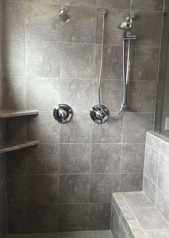 Sandalo Castillian Gray 12x12 Stacked In Garden Shower Garden Shower Tile Bathroom Home Decor