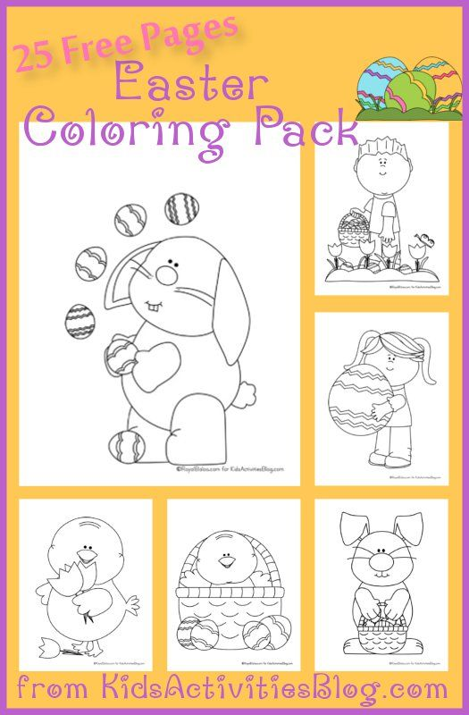 25 EASTER COLORING PAGES FOR KIDS | Dibujos de pascua, Colorear y ...