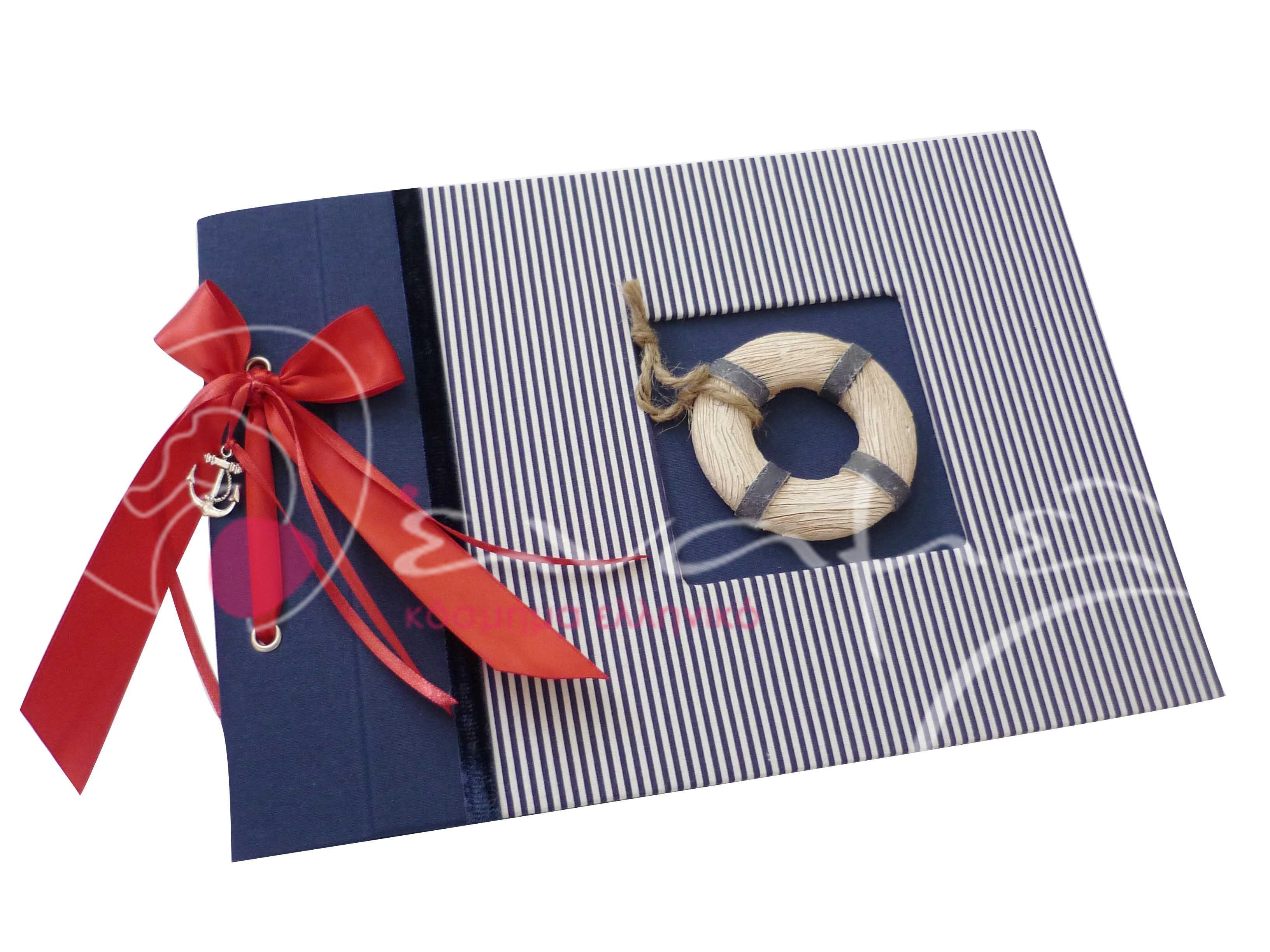 Χειροποίητο βιβλίο ευχών με θαλασσινό θέμα Δείτε περισσότερα εδώ http://www.enamel.gr/xeiropoihto-vivlio-eyxon-thalassino-naytiko-thema