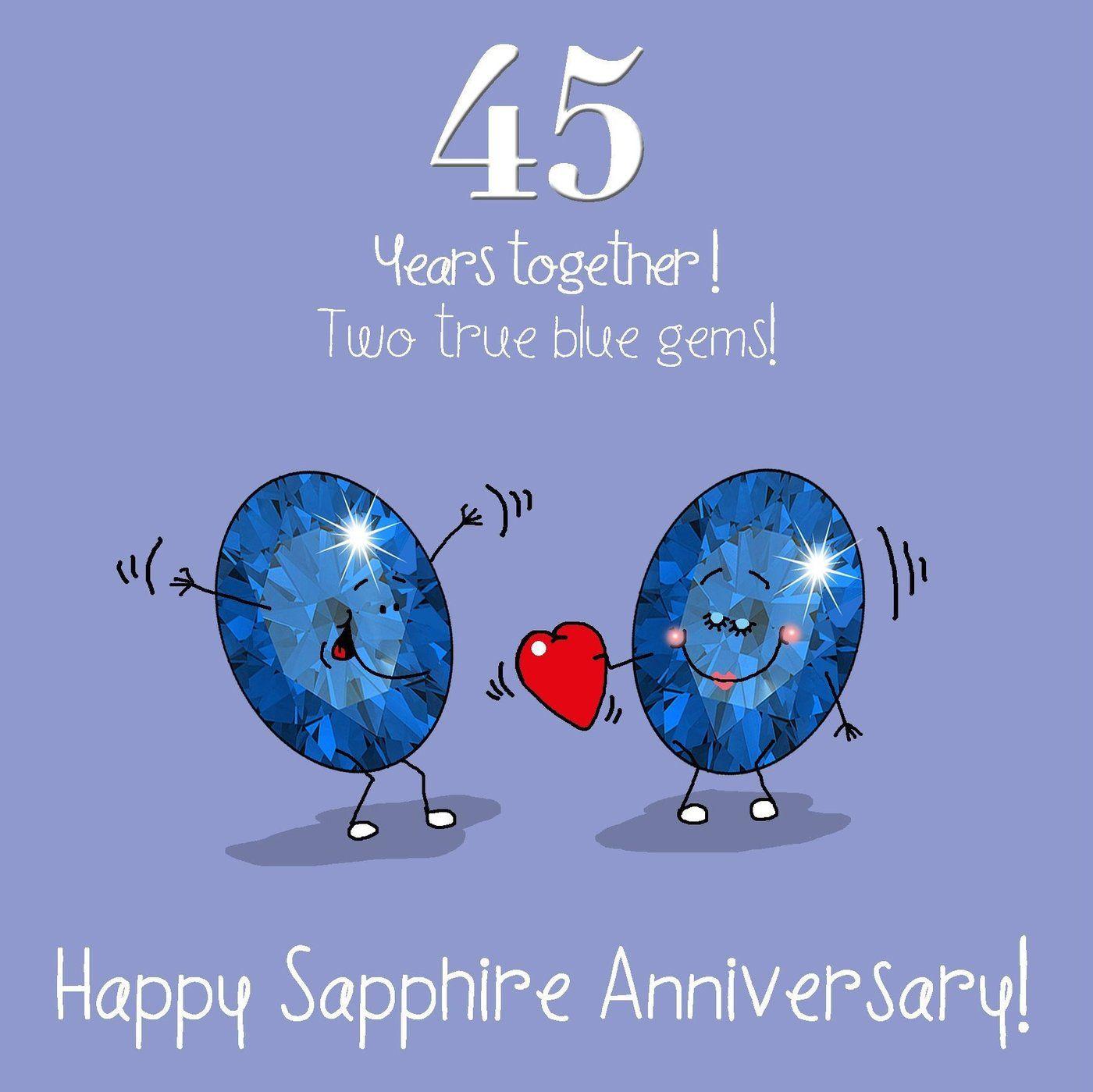 45thweddinganniversarygreetingscardsapphire