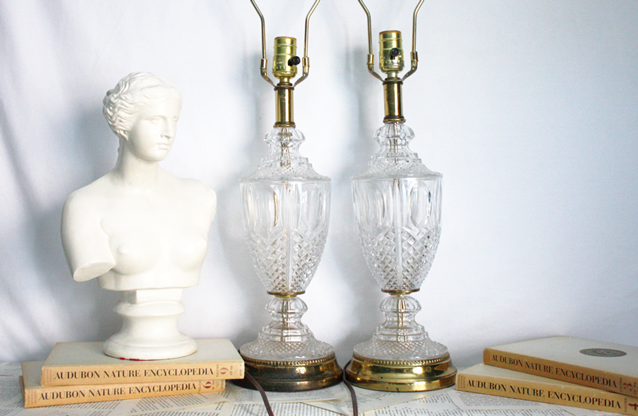 Captivating Vintage Crystal Glass Table Lamps. $100. Will U0026 Bequeath Vintage.  Www.willandbequeath