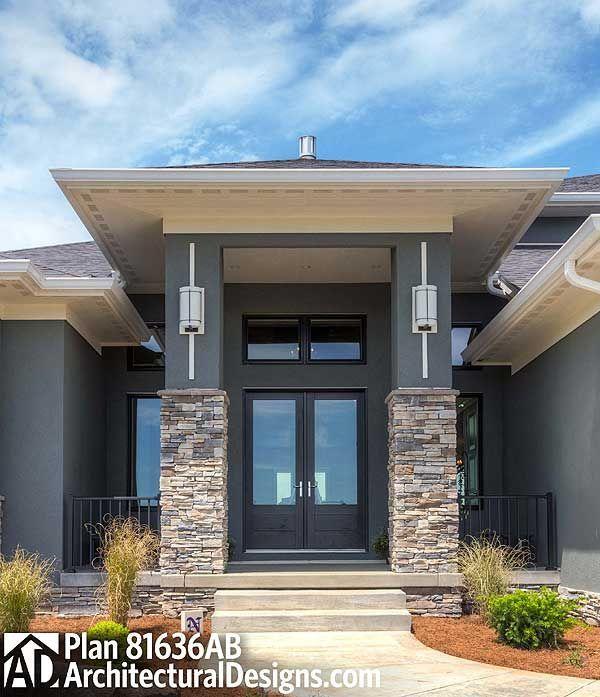 Plan 81636ab Amazing Prairie Style Home Plan Aussenwandfarbe