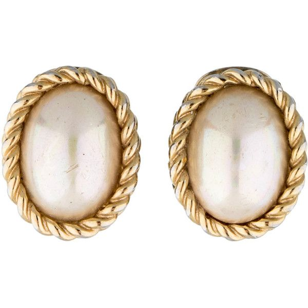 Pre Owned Dior Faux Pearl Clip On Earrings 75 Liked