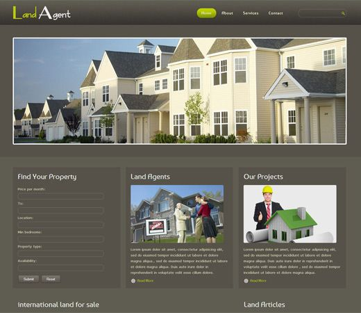 Free Website Template Css Html Land Agent Real Estate Mobile