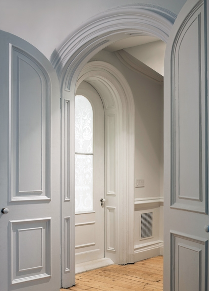After Before Victorian Townhouse Doors Interior Arched Doors