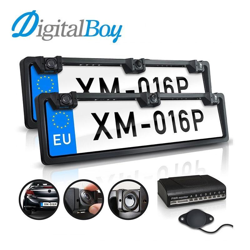 Digitalboy European Front & Back License Plate Frame 4 Parking ...