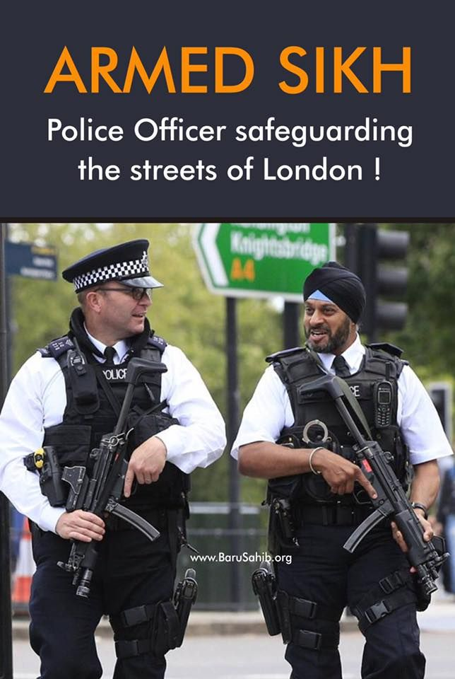 PictureOftheDay Armed Sikh Police Officer safeguarding ...