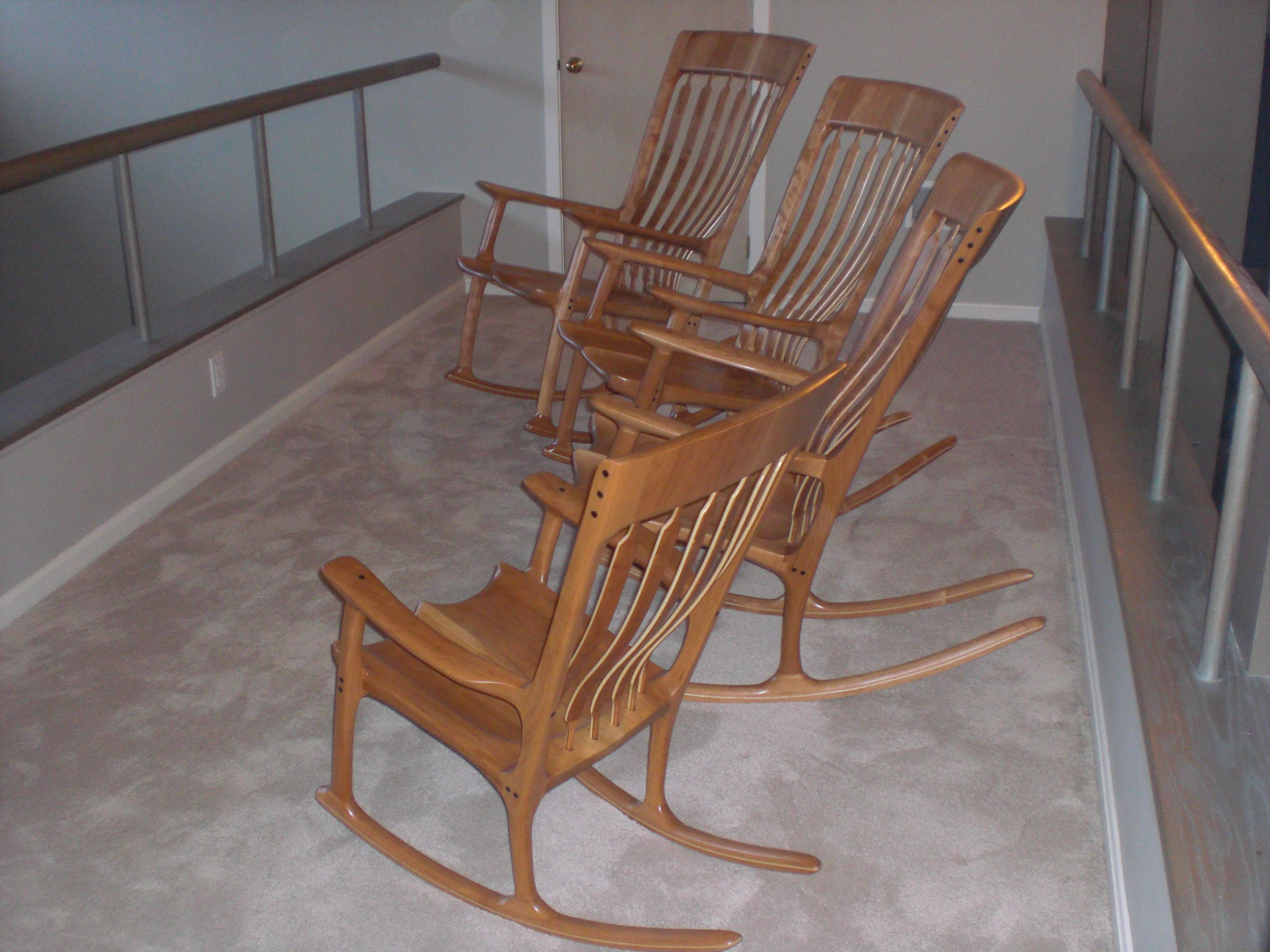 Sam Maloof Rocking Chair Plans Hal Taylor Saucer Target And Inspired Chairs From Bottom To Top Shown In Child Adult Small Medium Large Sizes