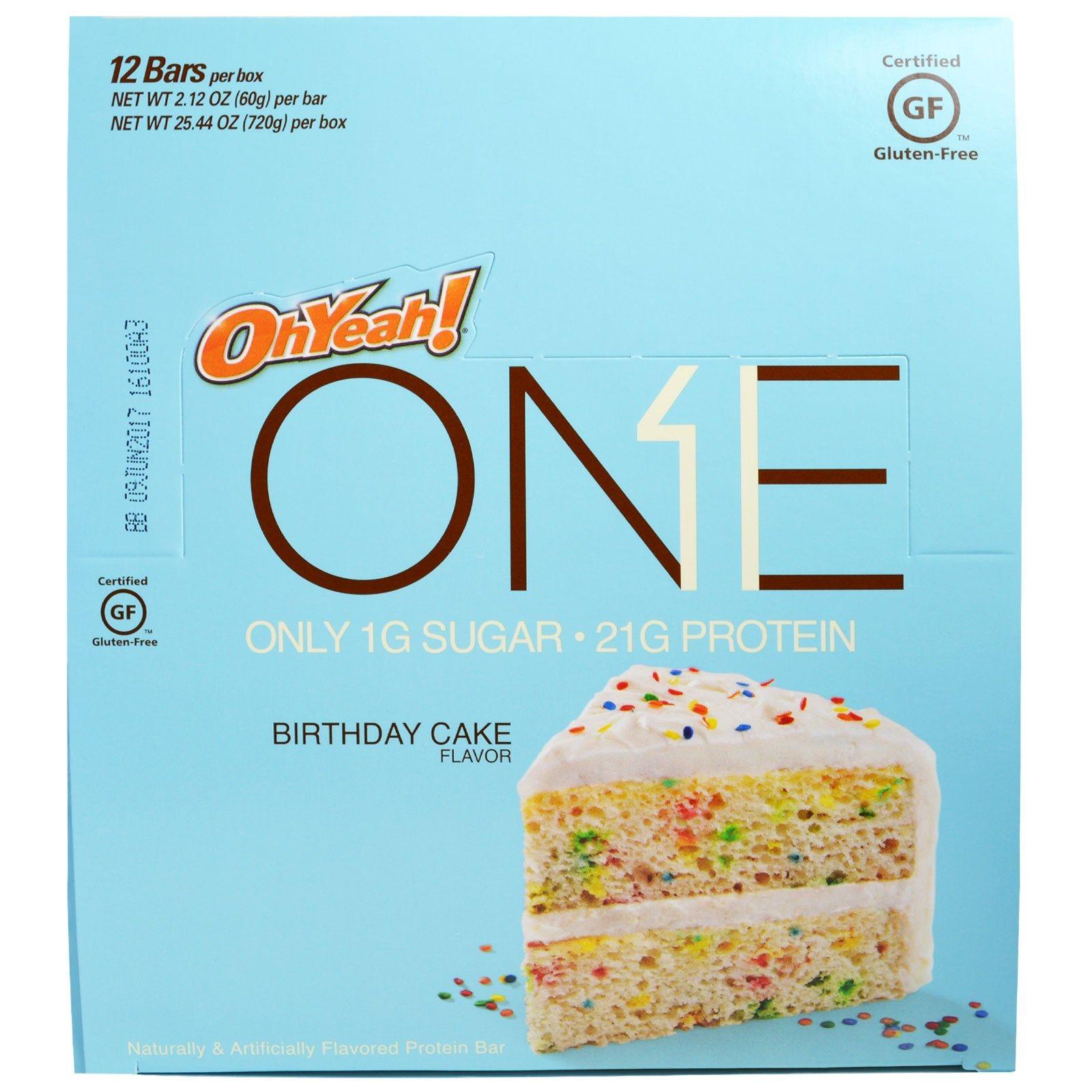 Oh Yeah One Protein Bar Birthday Cake