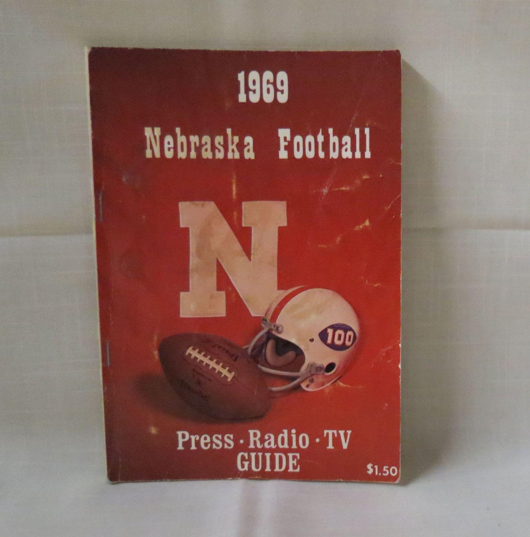 1969 Nebraska Football Press Radio TV Guide Media Guide