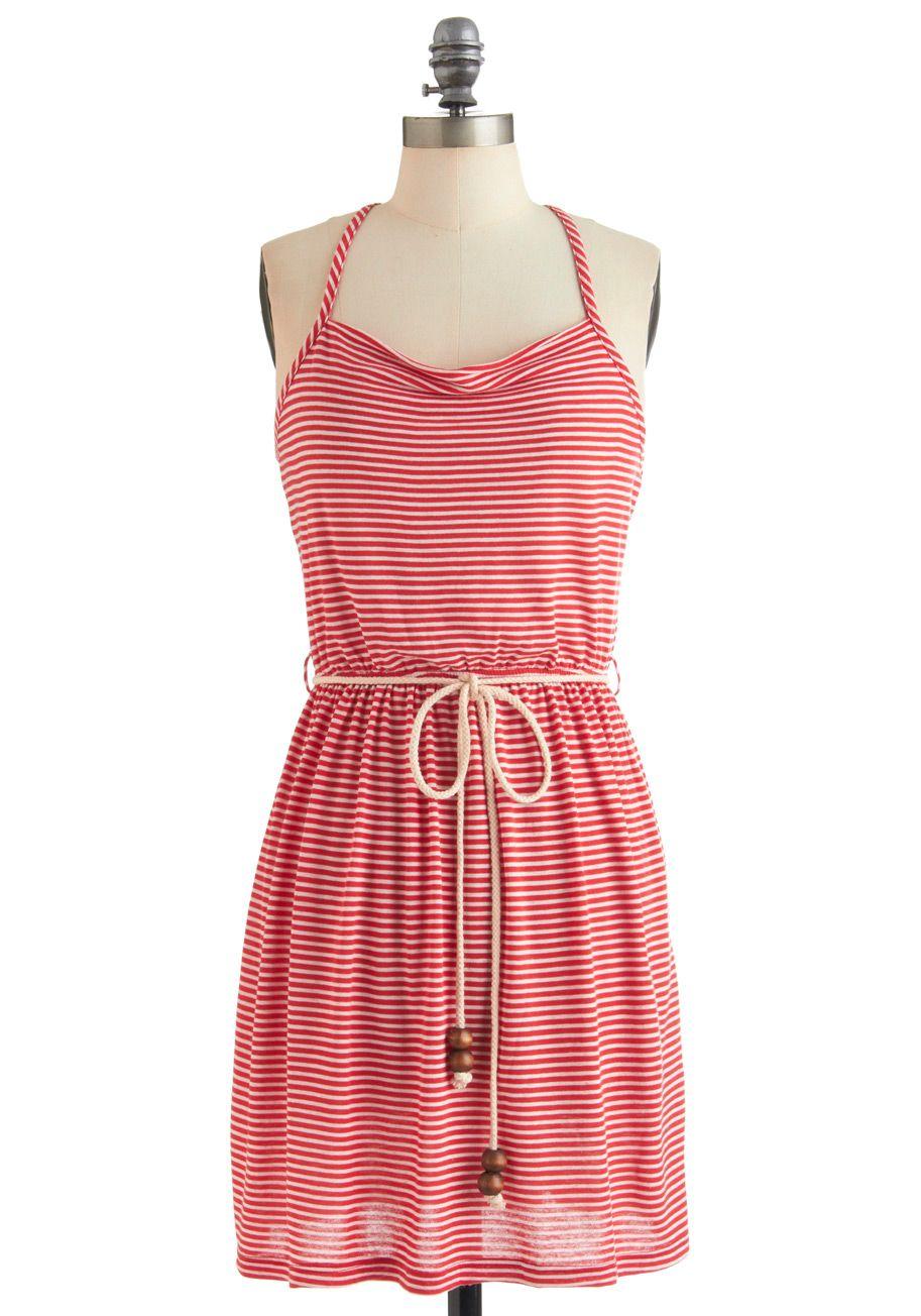 Parrot Y And Satire Dress White Stripes Casual Sheath Shift Racerback Summer Short Red Nautical Dresses Fashion Pretty Dresses [ 1304 x 913 Pixel ]