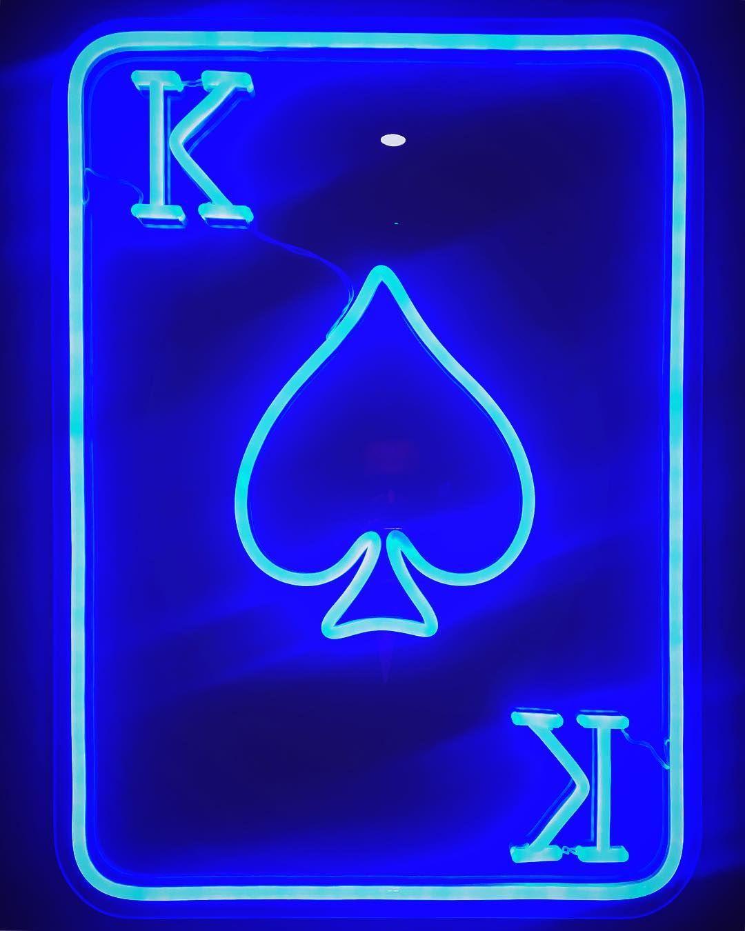 Neoking Neon Spades Art Neonart Artgallery Loo Blue Kleinblue Electricblue Mirror L Blue Aesthetic Grunge Blue Aesthetic Pastel Light Blue Aesthetic Electric blue neon neon wallpaper