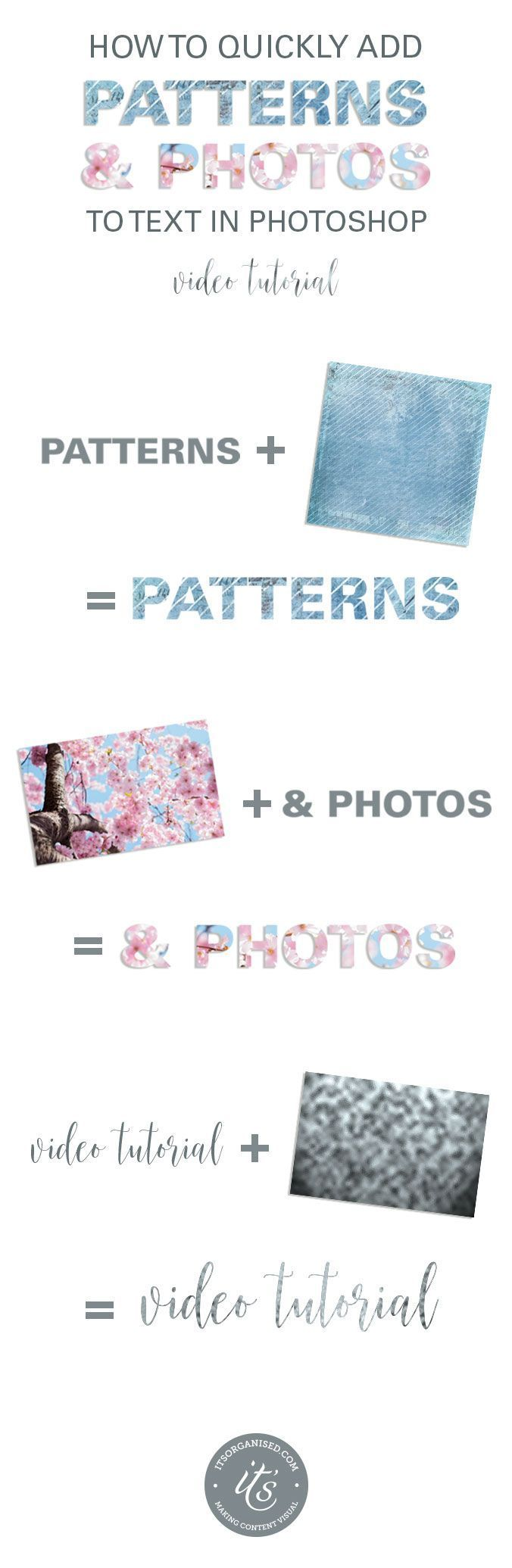 How to Quickly Add Photos or Patterns to Text in