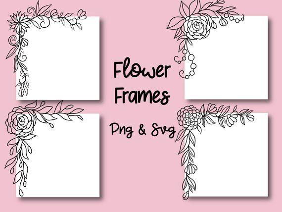 Photo of FLORAL FRAME, hand drawn wreaths, doodle clip art, rustic, drawn wreaths, PNG, SVG, vector wreaths, wedding, laurels, cute wreaths, frames