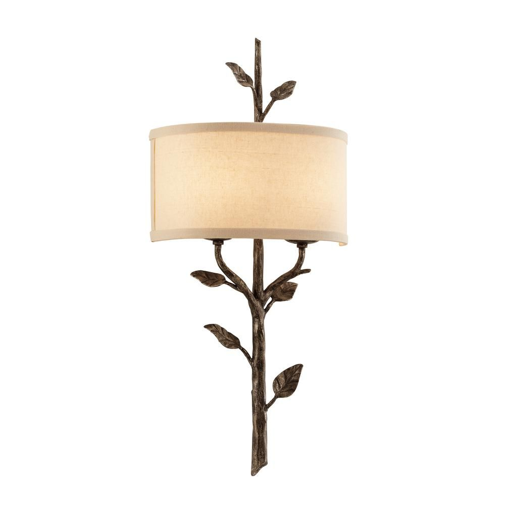 troy lighting almont 2 light cottage bronze wall sconce on wall sconces id=76878