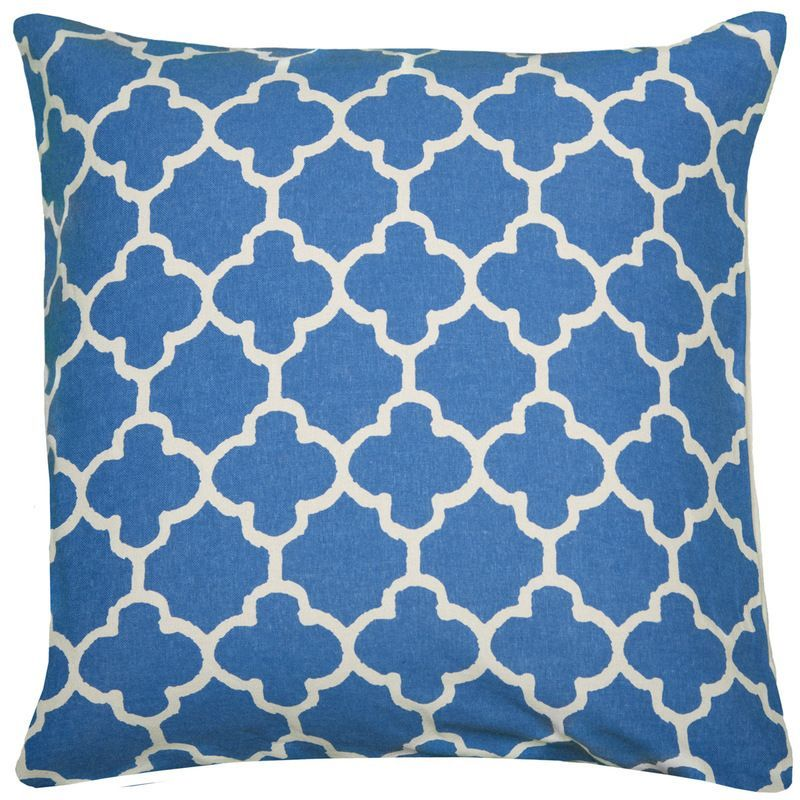 Moroccan Accent Pillow Cover (Blue ) (T04873)