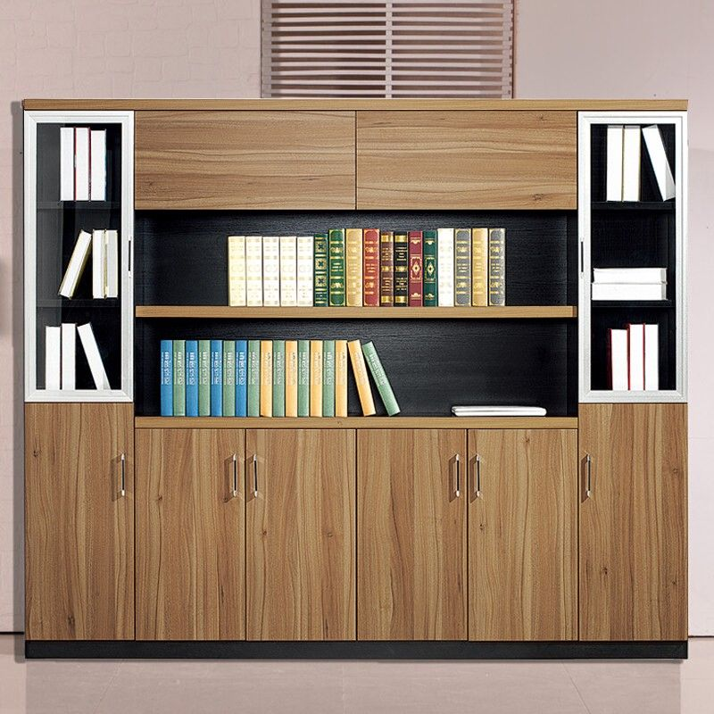 China High Quality Wooden Office Wall Cabinet Modern Showcase Designs