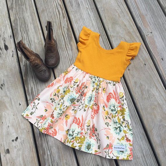 ec7859b7aeab flutter sleeves Easter dress, baby girls Easter dresses, toddler Easter  outfit, floral Easter dresses, newborn coming home outfit