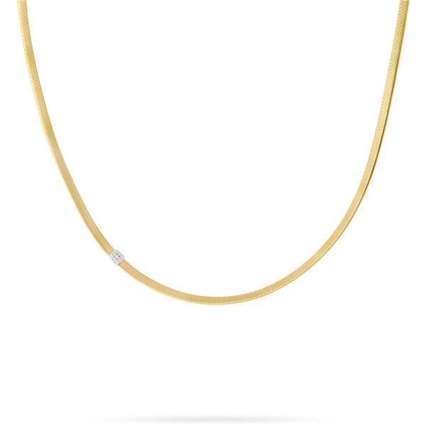 Marco bicego masai 18k single strand necklace with diamond station marco bicego masai 18k single strand necklace with diamond station 4380 liked aloadofball Choice Image