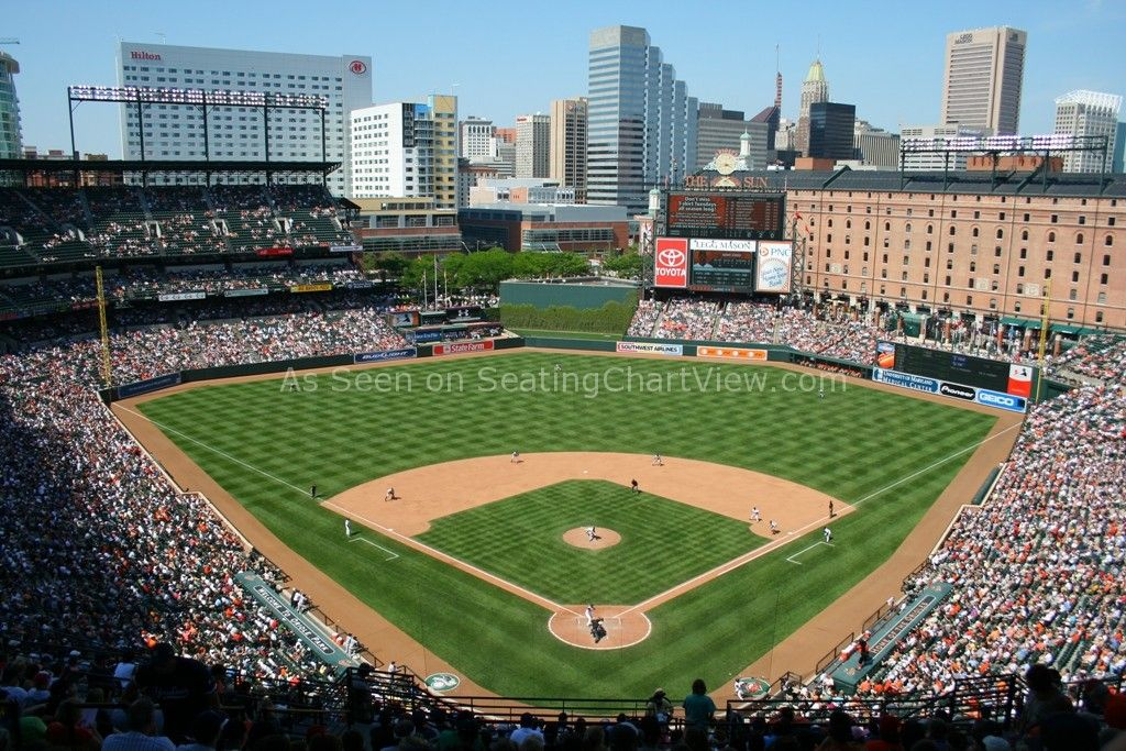 Oriole Park At Camden Yards Baltimore Md Seating Chart View Camden Yards Baseball Park Orioles