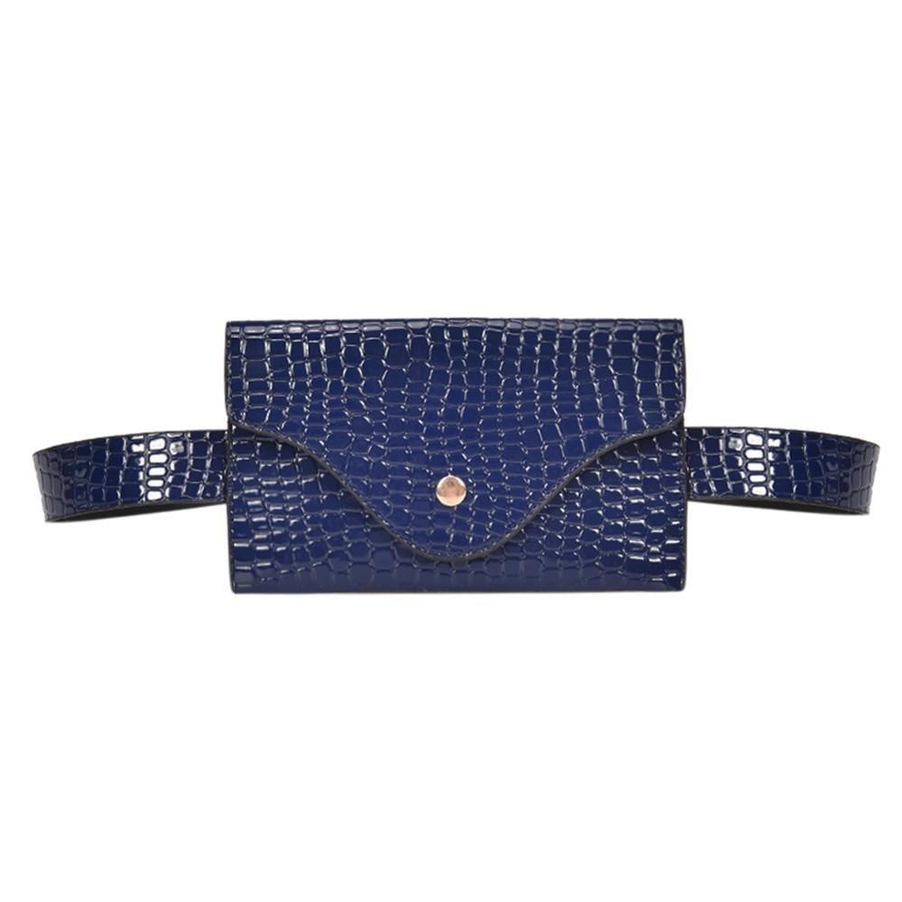 4749459acfc Fashion Women Waist Bag Quality PU Leather Belt Bag Pure Color Pack ...