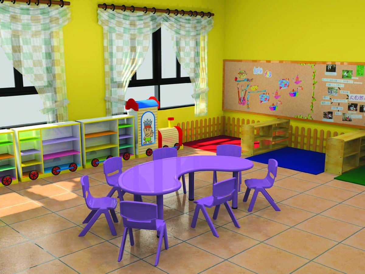 Furniture table ce certificate moon shape kindergarten for Table for kids room