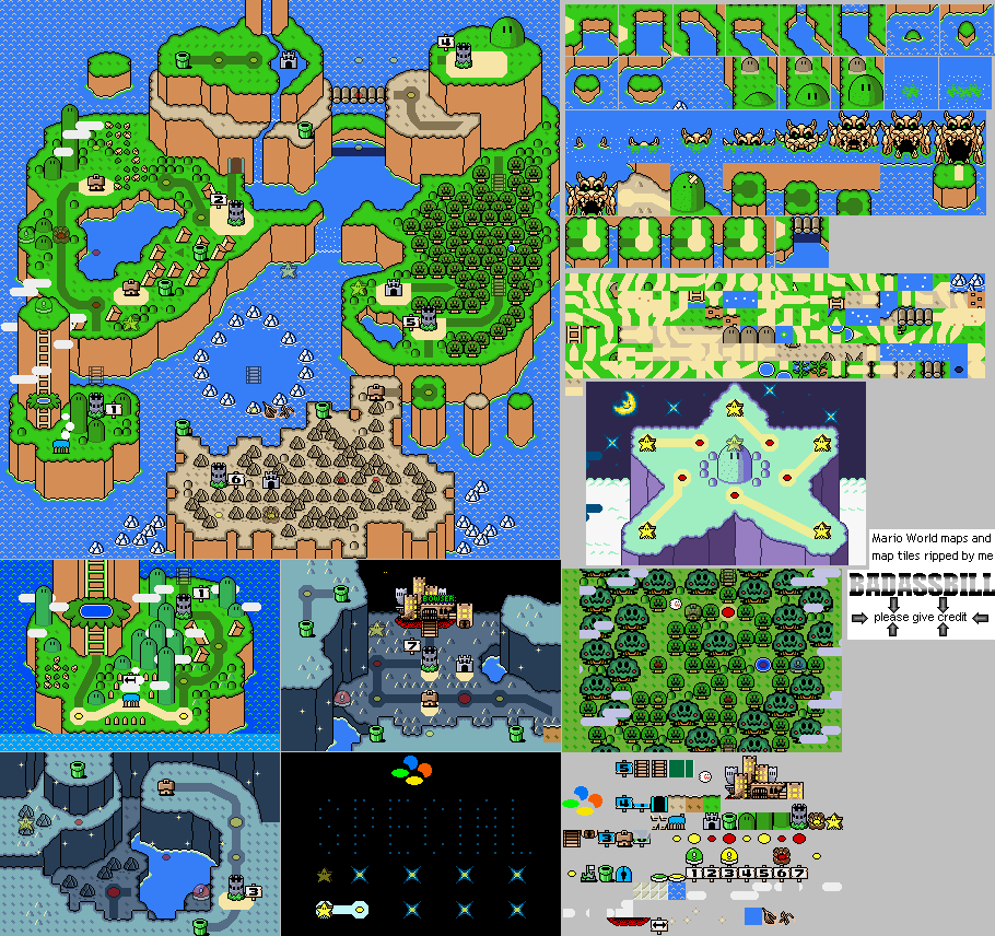 Super Mario World World Map All World Map Super Mario World Super Mario
