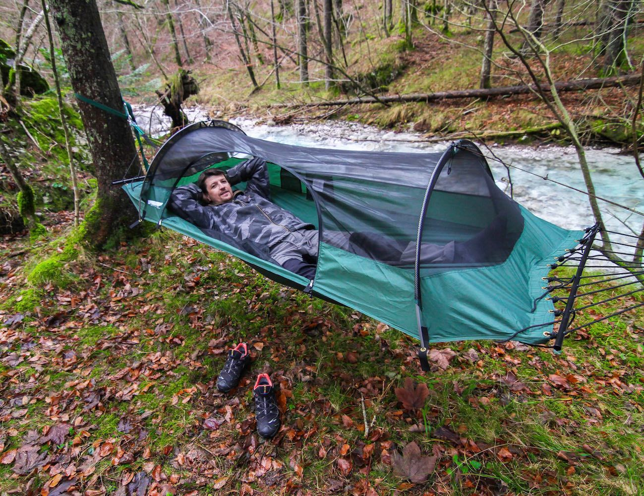 The Blue Ridge #Camping #Hammock by Lawson Hammock is a unique, hybrid tent-hammock that has been rated #1 on the market by leading publications like Backpacker and Outside.