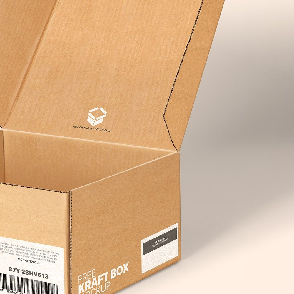 Download Open Kraft Pinch Lock Box Mockup Box Mockup Free Packaging Mockup Kraft Box Packaging