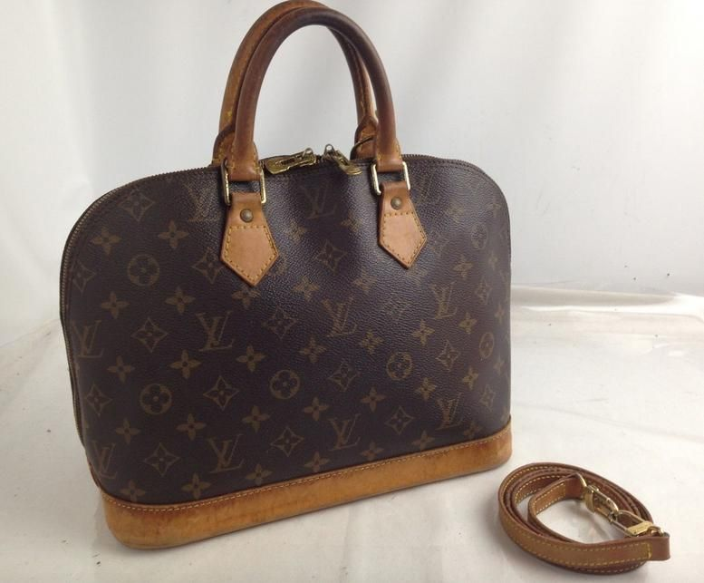 f8ad89db64c Alma 2 Way Ba0948 with Cross Body Lv Strap Brown Monogram Canvas and ...