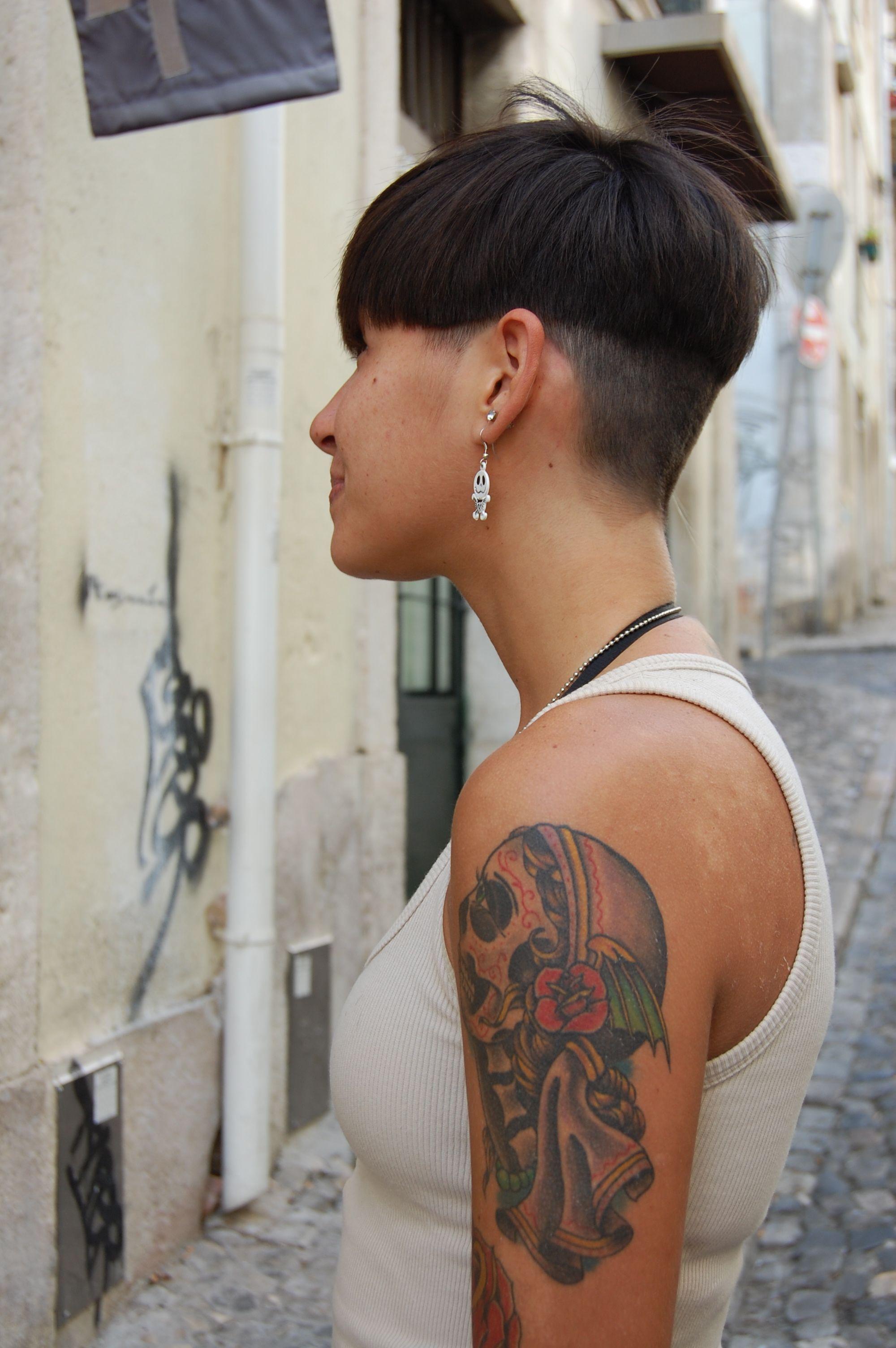 Women Short Sides Long Top Haircut Fade