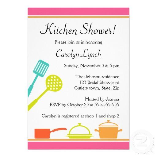Colorful Kitchen Bridal Shower Invitations Zazzle Com Bridal Shower Bridal Shower Invitations Rustic Bridal Shower Invitations