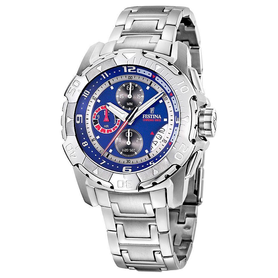 Festina F16297 2 Men s Watch Tour De France Sport Chrono Blue Dial ... 4f28b457125e