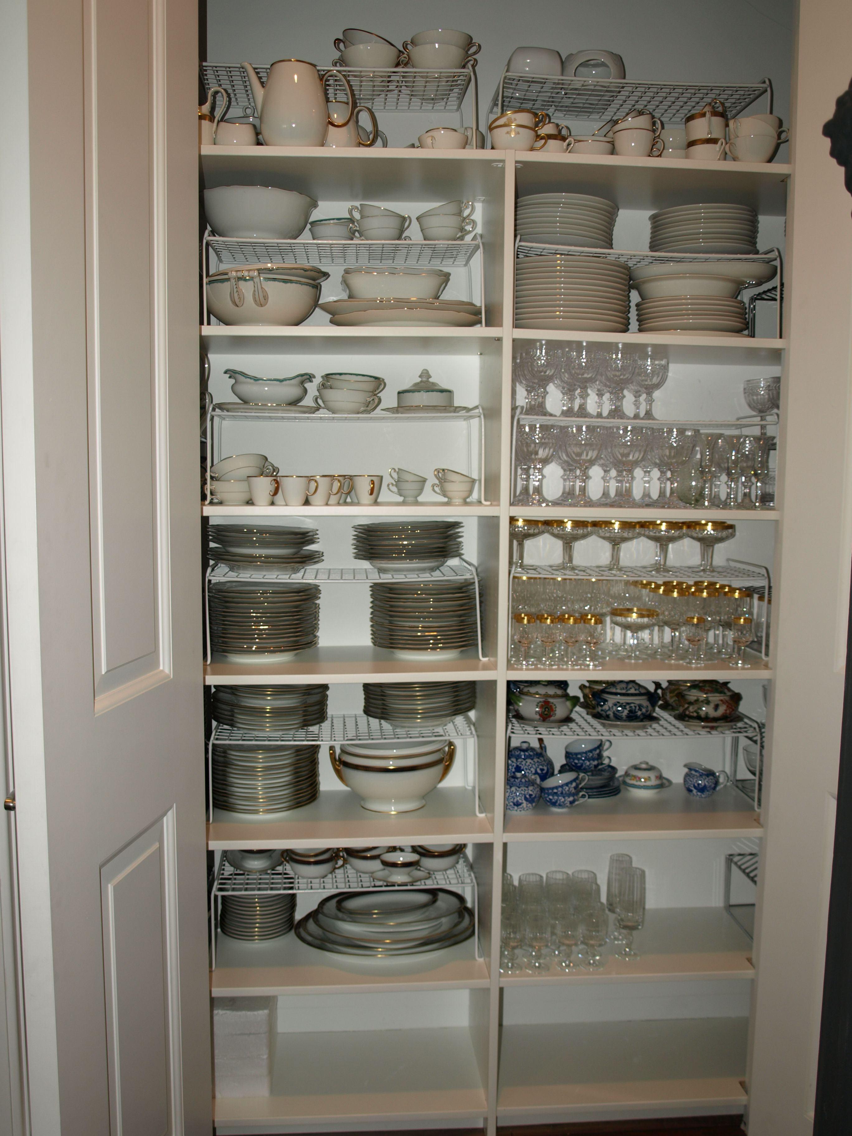 great storage for entertaining dishes and stemware with images dream pantry kitchen pantry on kitchen organization dishes id=14199