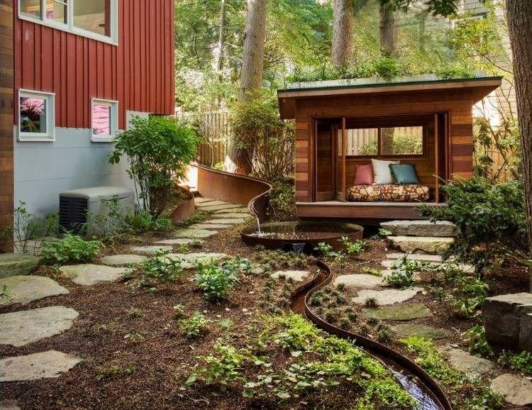 Petit cours d eau 20 id es de ruisseau et bassin de for Cours de conception de jardin