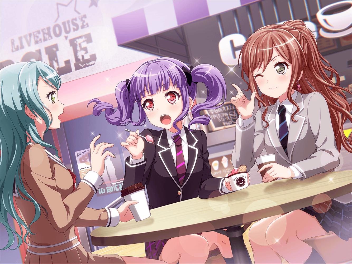 941ako Udagawa Happy Tea Time With Everyone Cbmpf5 Png 1334 1002 Anime Best Friends Friend Anime Anime Friendship