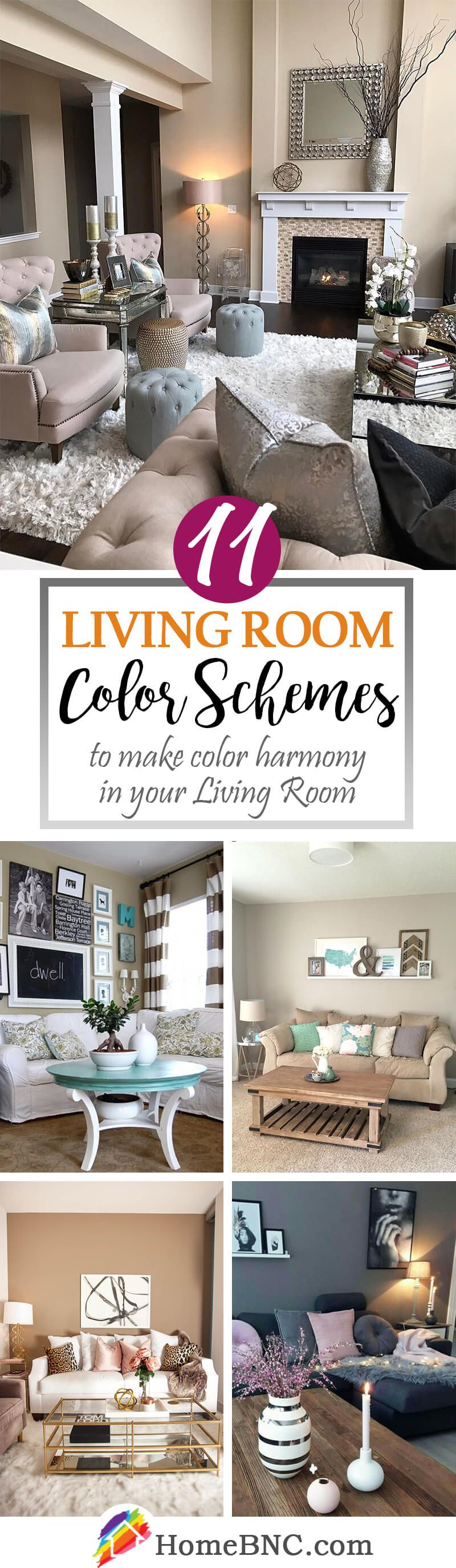 cozy living room color schemes to make color harmony in your