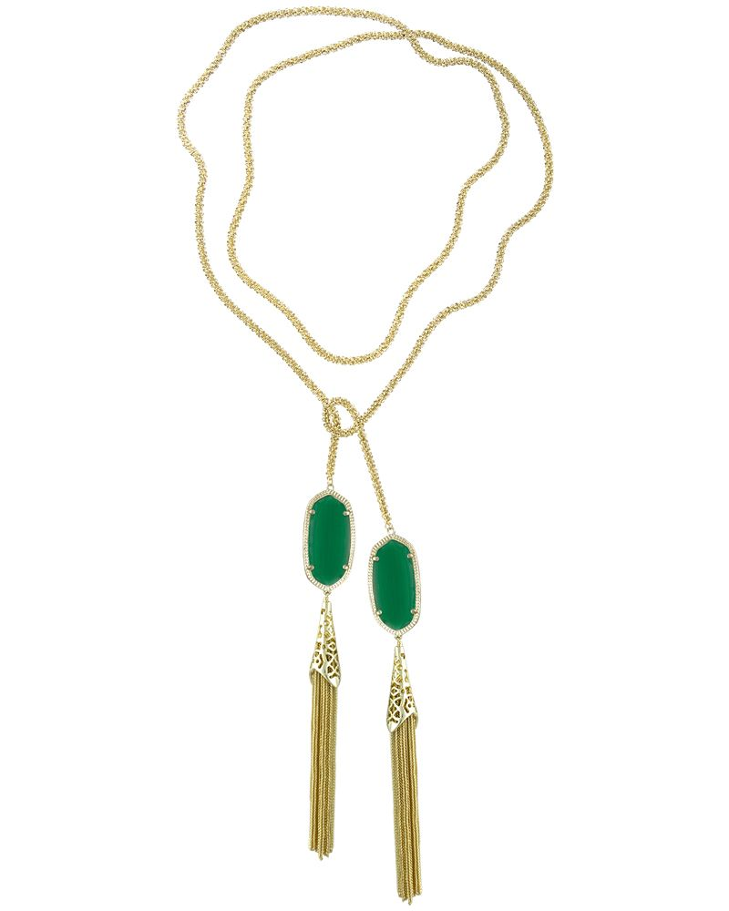 Double tassel wrap necklace. Gorgeous emerald color. Kendra Scott  on sale now!!!