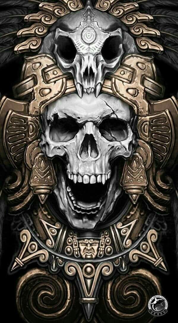 mayan skull warrior skulls pinterest skulls and warriors. Black Bedroom Furniture Sets. Home Design Ideas