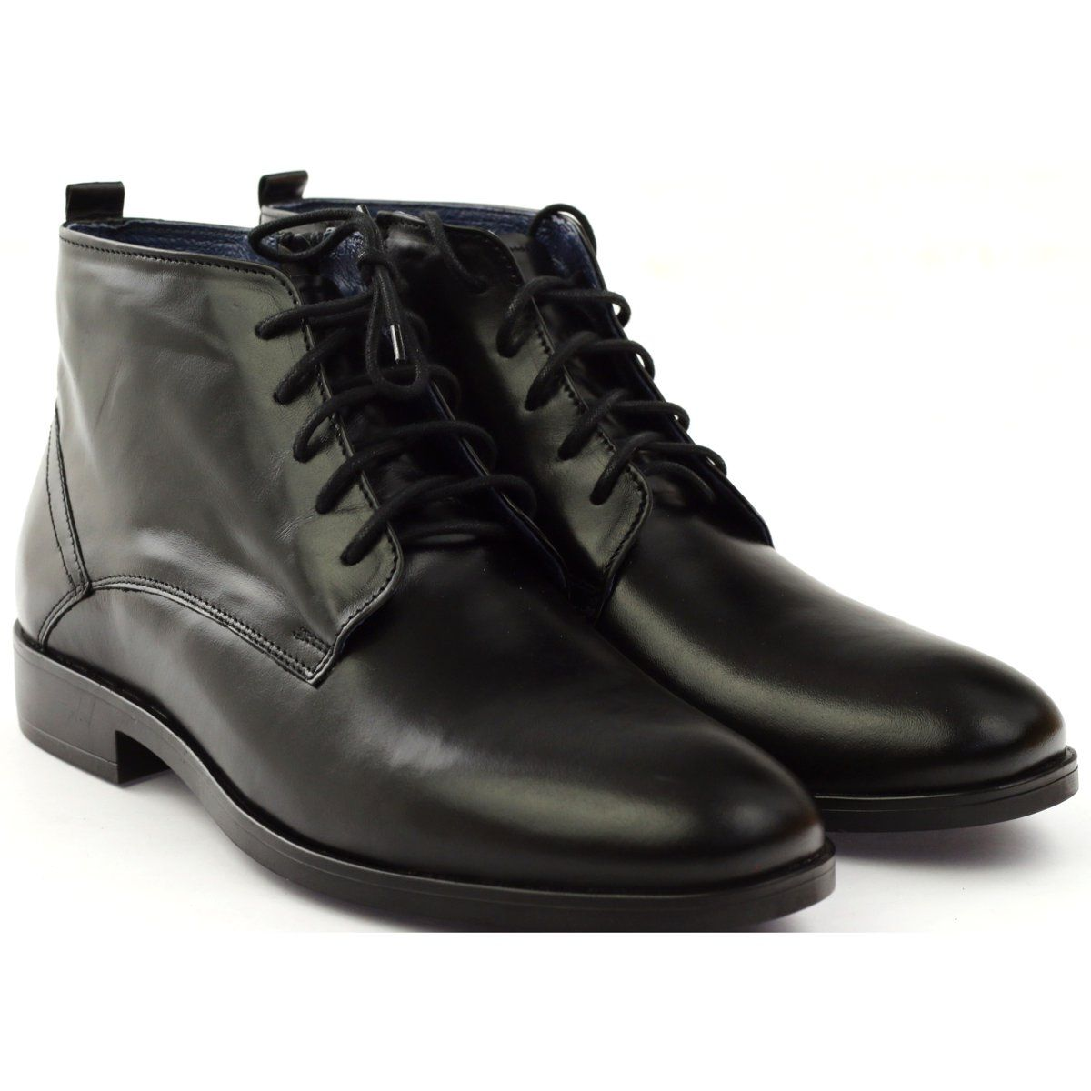 Botki Zimowe Na Suwak Nikopol 663 Czarne Boots Boots Men Winter Boots