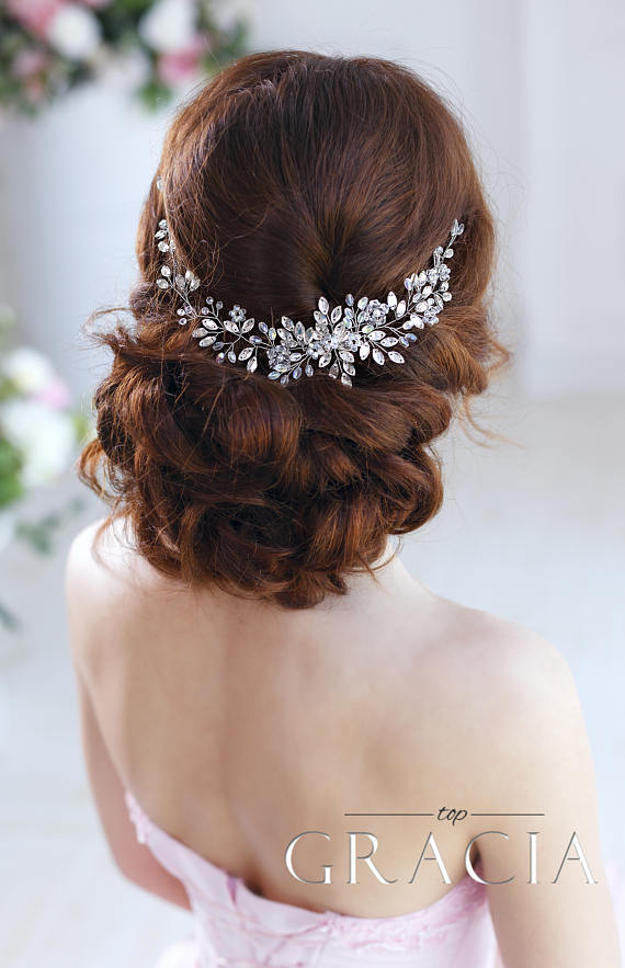 Wedding Hair Accessories Bridal Hair Piece Wedding Headband Crystal Hairpiece Rhinestone Headpiece Bridal Hair Jewelry Bridal Headband Vine Vintage Wedding Hair Wedding Hair Pieces Wedding Hair Accessories
