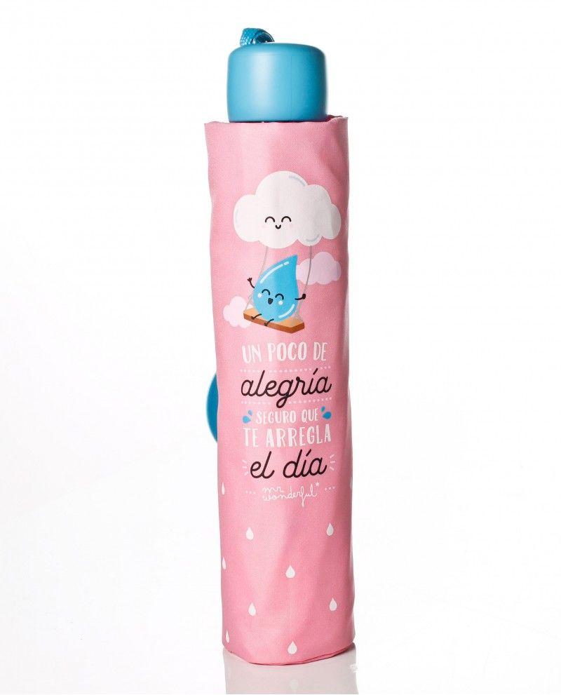 9d87677d719 Paraguas plegable manual de Mr. wonderful en color rosa