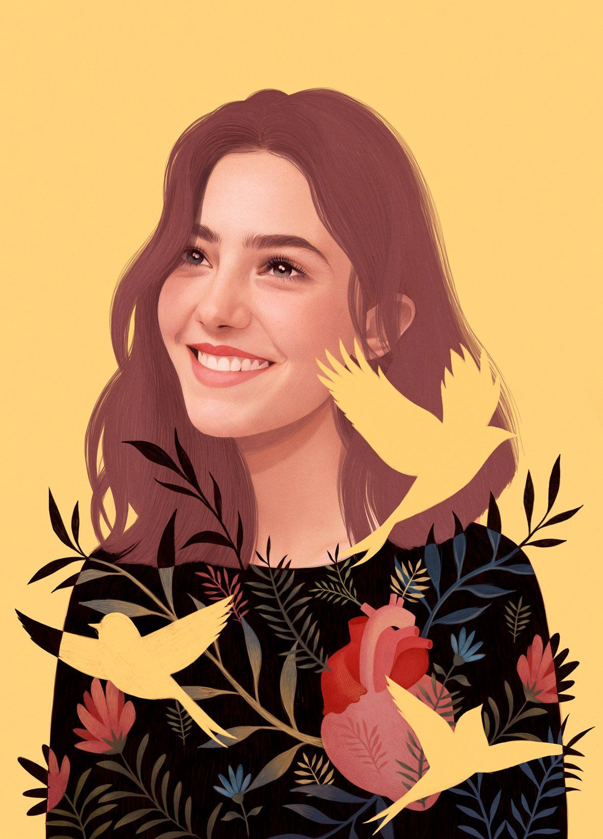 Illustrated Portraits by Mercedes deBellard | Inspiration Grid