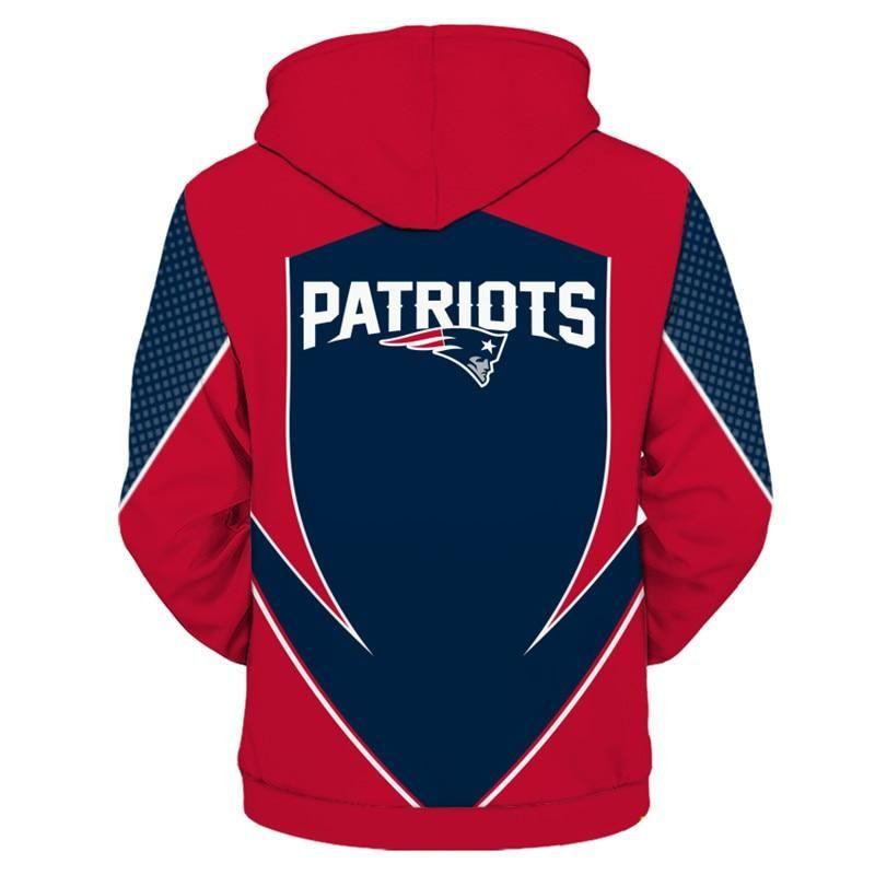 NEW ENGLAND PATRIOTS Hoodie Football Zip Sweatshirt Pullover NFL in
