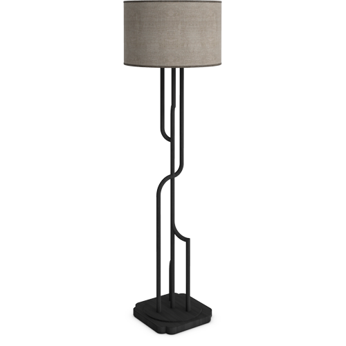 Gatsby Floor Lamp Anthracite Color Oak Floor Lamp Shade Linen Base Stem Solid Oak Partially Assembled Floor Lamp Lighting Floor Lamp Table Oak Floor Lamp