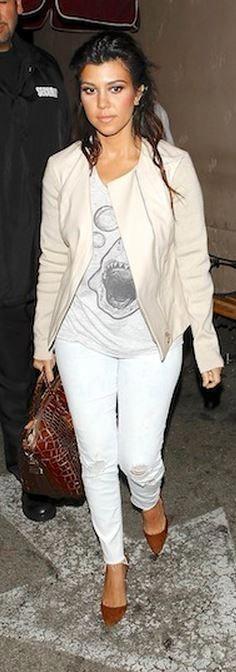 d7fe910609f Who made Kourtney Kardashian s pink jacket