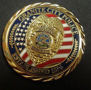 Granite City Il Police Department Challenge Coin New Issue Ebay Police Challenge Coins Challenge Coins Granite City